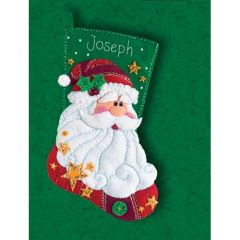 Sequin Santa Christmas Cross Stitch Kit