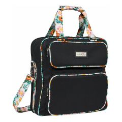 Everything Mary 12401-1 Black & Floral Carrying Case, Shoulder Bag for Sewing and Craft Projects