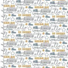 Cotton Craft Fabric 110cm x 1m Little Lion Collection - Words