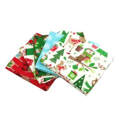 Fat Quarter Bundle Merry Forest | Pack of 5 Fat Quarters by Sewing Online FE0060