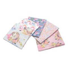 Unicorn Utopia Collection Pack of 5 Cotton Fat Quarters - Sewing Online FE0110