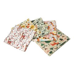Woodland Friends Themed Pack of 5 Cotton Fat Quarters - Sewing Online FA223