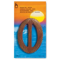 Wooden Shawl Pin - Buckle