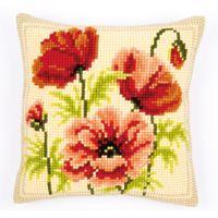 Cross Stitch Cushion - Poppies 11