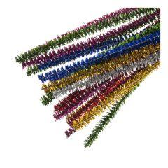 Glitter Chenille 6mm x 30cm 100 pack