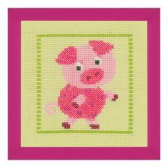 Counted Cross Stitch Kit: Piggy