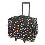 Polka Dot Sewing Machine Trolley Bag Black/multi