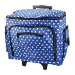 Sewing Machine Trolley Bag | 47x38x24cm | Birch 006108-NAVY-DOT