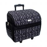 Deluxe Sewing Trolley Black/White Floral  46x23x46cm Everything Mary EVM10130-4