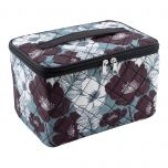 Quilted Sewing Case Floral Print 25.4x17.15x15.24cm Everything Mary EVM9207-18