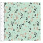 Cotton Craft Fabric 110cm wide x 1m | Give Me The Sea Seaweed | 13756-MINT