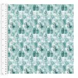 Cotton Craft Fabric 110cm wide x 1m | Love Always Block Tonal | 13825-TEAL