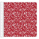 Cotton Craft Fabric 110cm wide x 1m - Basics Wispy - Red - 14955-RED