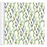 Cotton Craft Fabric 110cm wide x 1m - Charisma - Vine - 15004-CREAM