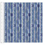 Cotton Craft Fabric 110cm wide x 1m - Charisma - Textured Stripe - 15005-BLUE