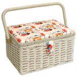 Notions Sewing Basket Orange/Multi 26.5 x 19 x 15cm | Sewing Online FM-005