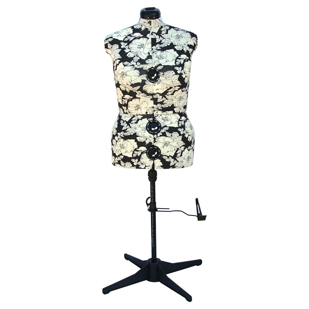 Hollyhock Grey 8 Part Adjustable Dress Form Large 20 22