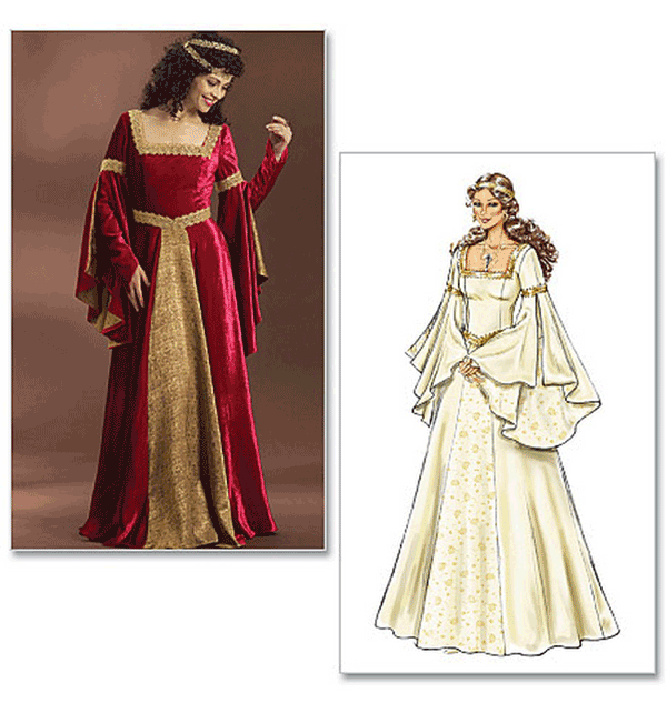 Butterick Misses Costume Sewing Pattern 4571 Medieval Gowns | eBay
