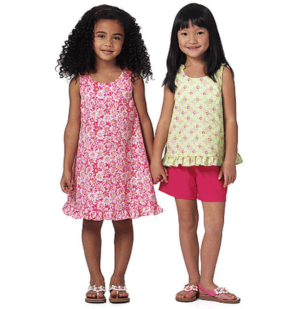 Butterick Toddlers / Childrens Sewing Pattern 5442 Top, Dress ...