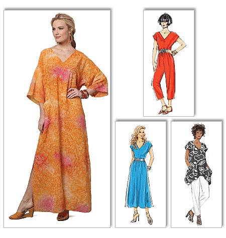 Butterick Misses Sewing Pattern 5652 Top, Dress, Caftan, Jumpsuit ...