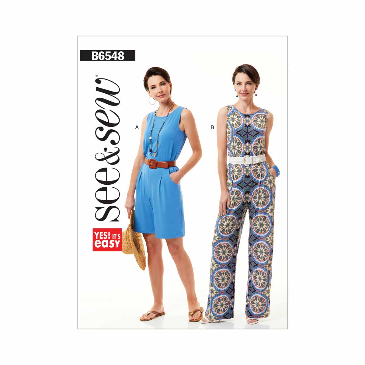 Womens Jumpsuit and Playsuit | Size XS-XXL | Butterick See and Sew ...