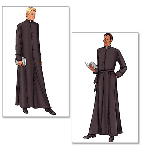 Butterick Costume / Mens Sewing Pattern 6844 Church Clergy Robe   eBay