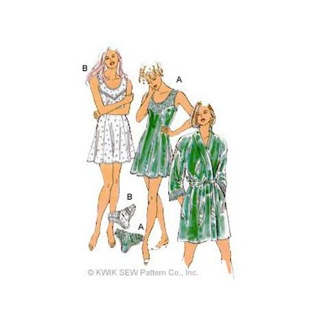 Kwik Sew Nightwear / Underwear Sewing Pattern 2325 Chemise, Robe ...