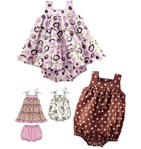 Kwik Sew Babies Sewing Pattern 3776 Dress, Bloomers & Romper | eBay