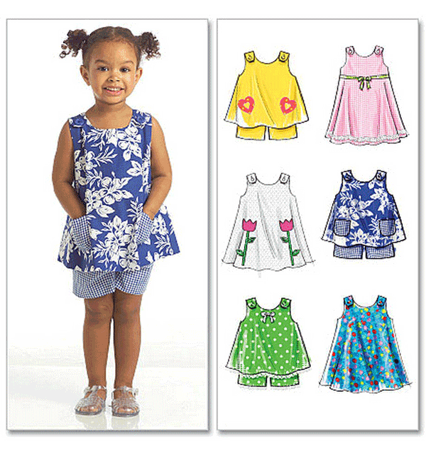 McCalls 6 Looks 1 Easy Pattern Toddlers Sewing Pattern 5416 Top ...