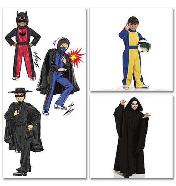 McCalls Childrens/Boys Sewing Pattern 5952 Hero Costumes | eBay