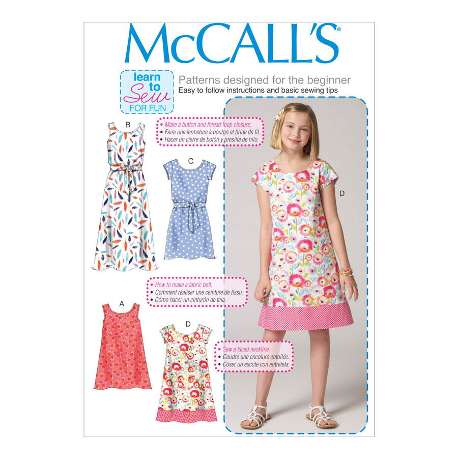 McCall\'s Learn to Sew for Fun Sewing Pattern   M7111   Child\'s ...