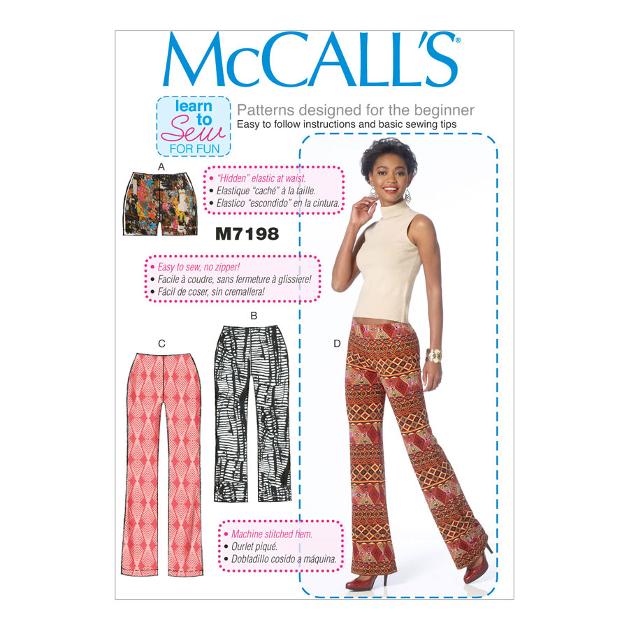 McCall\'s Learn to Sew for Fun Sewing Pattern   M7198   Misses ...