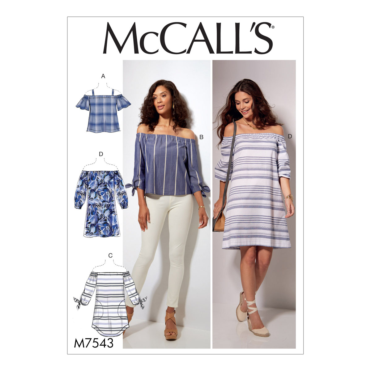Off the shoulder top sewing pattern choice image craft mccalls sewing pattern misses off the shoulder tops tunic and m7543y jeuxipadfo choice image jeuxipadfo Image collections