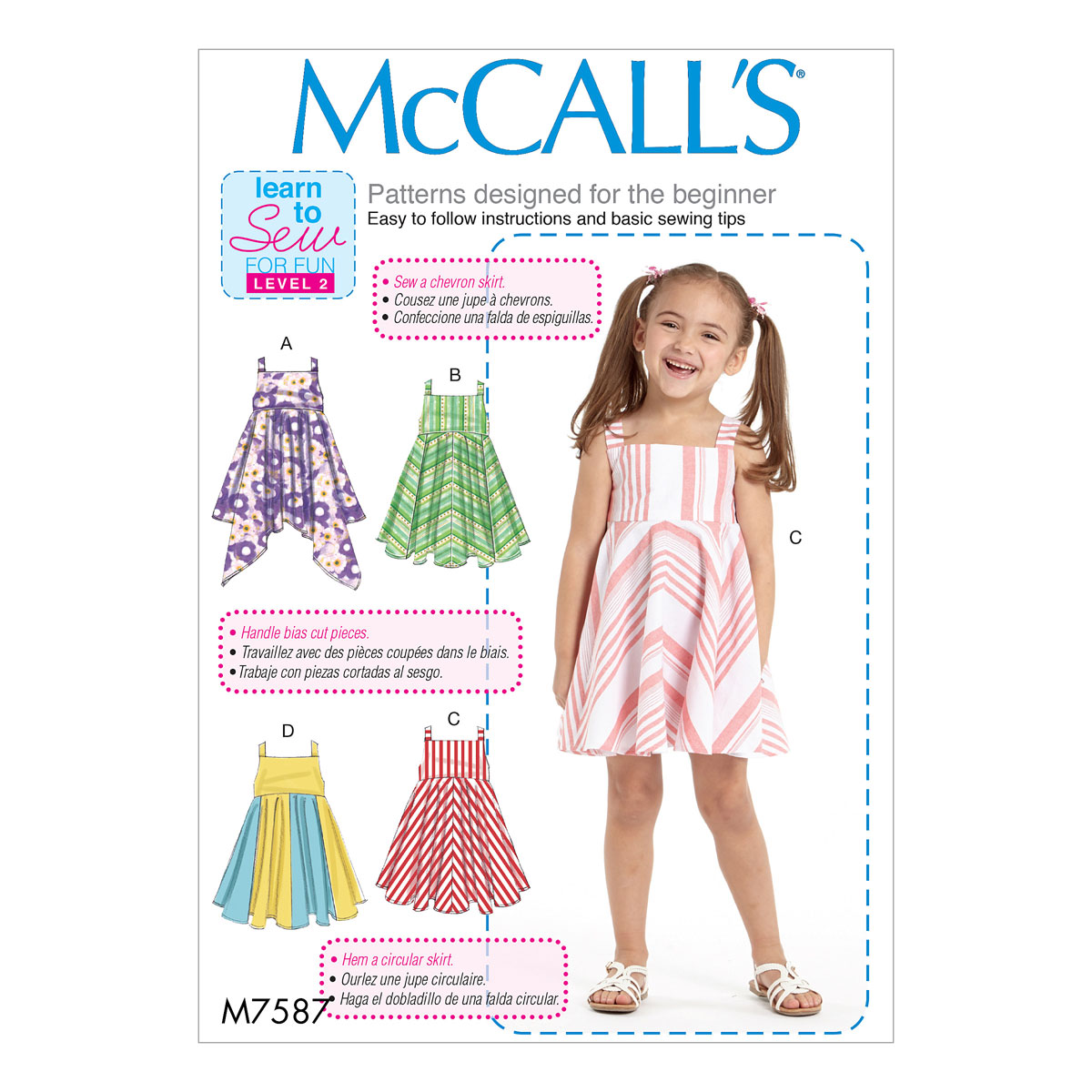 McCalls Sewing Pattern M7587 | Childrens/Girls Dresses with ...