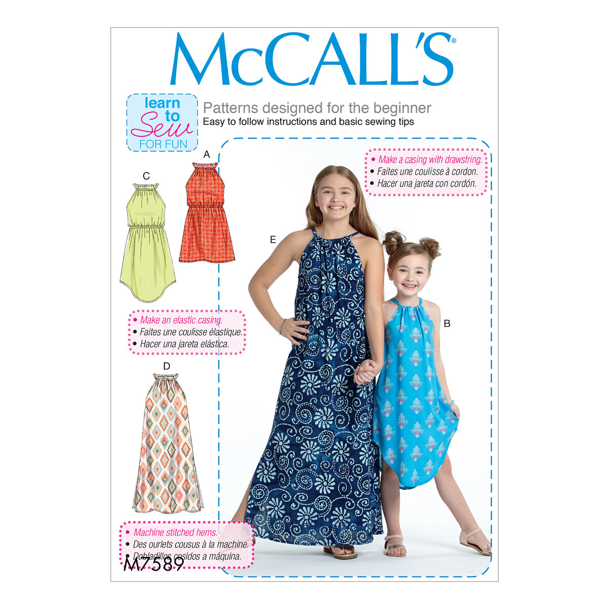 McCalls Sewing Pattern M7589 | Childrens/Girls Gathered Neck ...