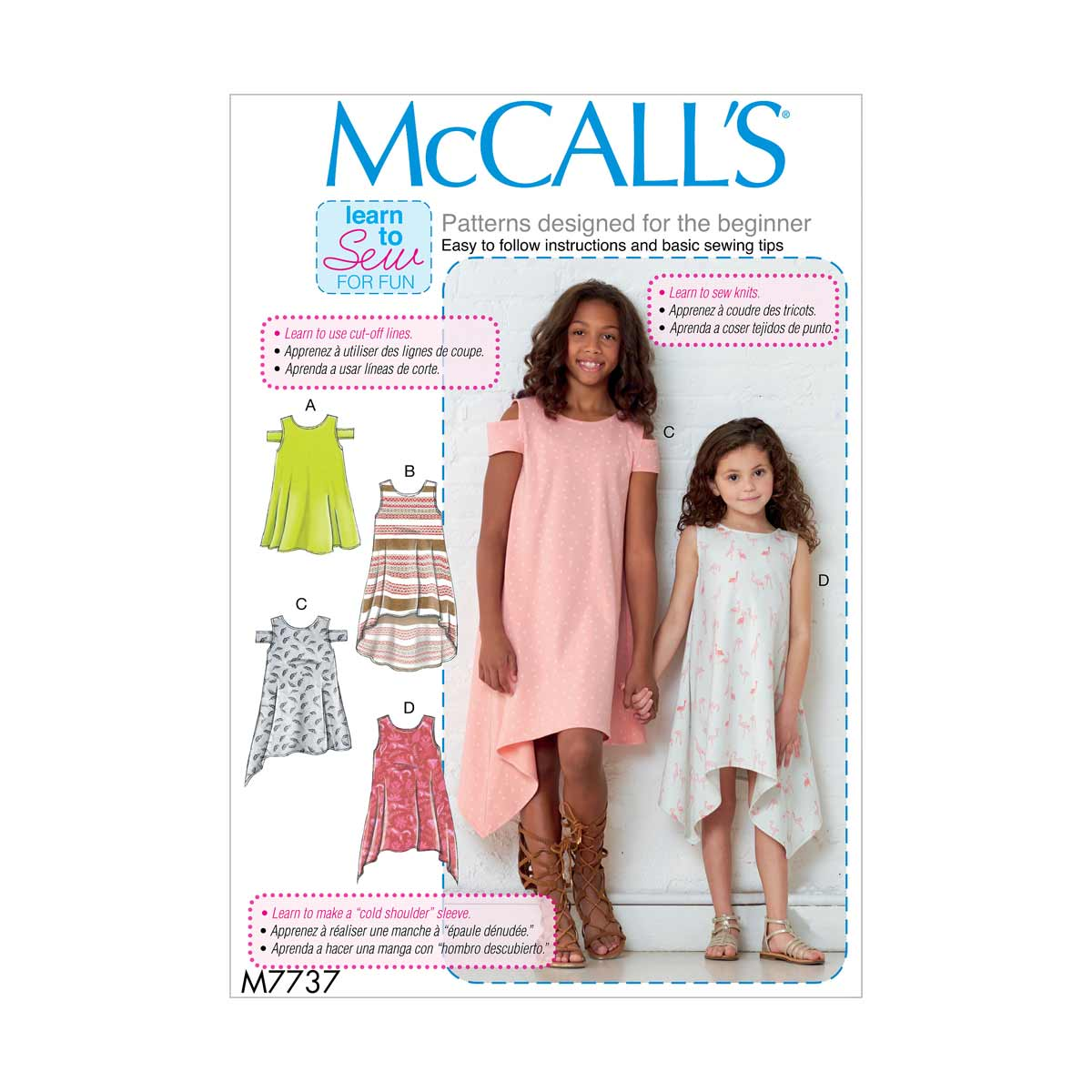 Learn to Sew Childrens Dresses   McCalls Sewing Pattern M7737   eBay