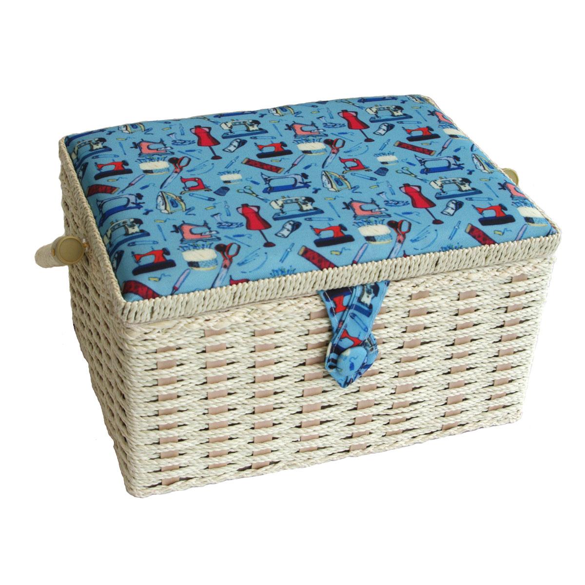 Notions Medium Sewing Basket Multi 26 x 19 x 15cmSewing Online FM-008