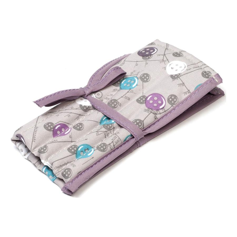 Tasten Muster gefüllt Häkelnadel Rolle Krawatte Fall lila & Aqua auf ...
