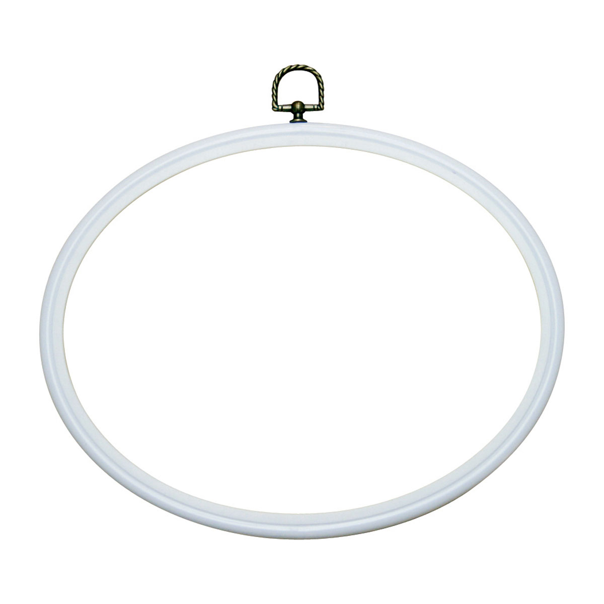 Plastic Oval Frame to Display Needlecraft Pieces | White | 20 x 25cm ...