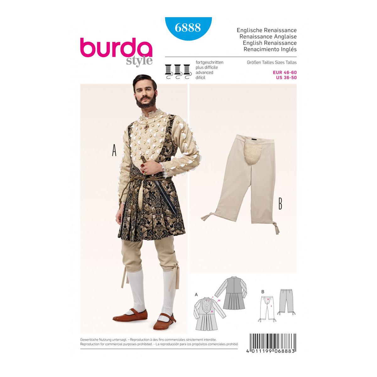 Mens Historical Jacket, Breeches, CodPiece | 36-50 | Burda Sewing ...
