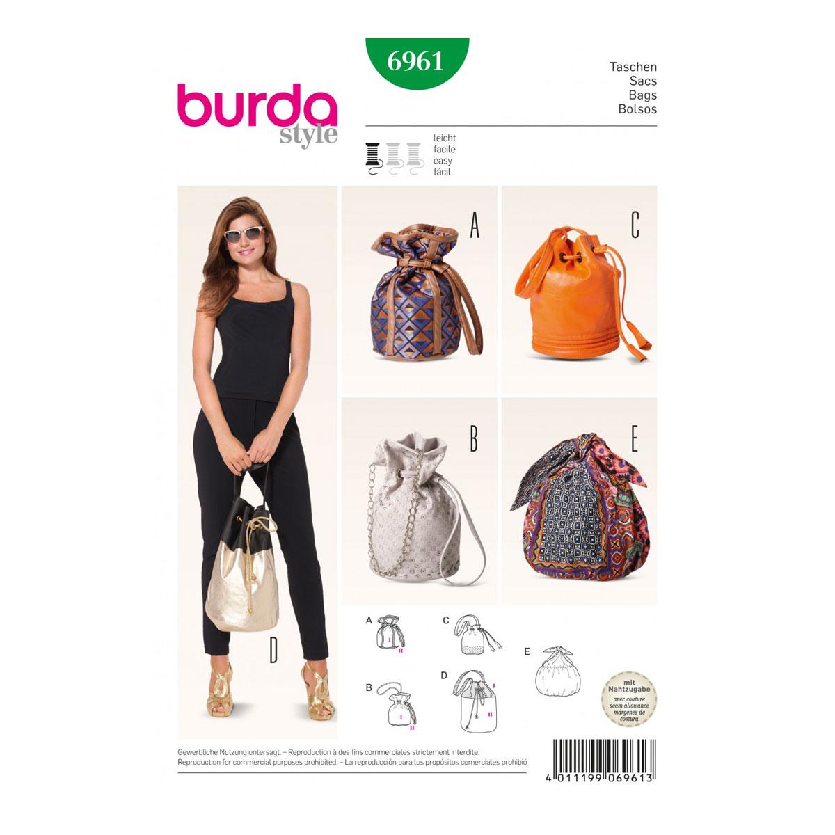 Drawstring Bucket Bag Sewing Pattern - Ken Chad Consulting Ltd