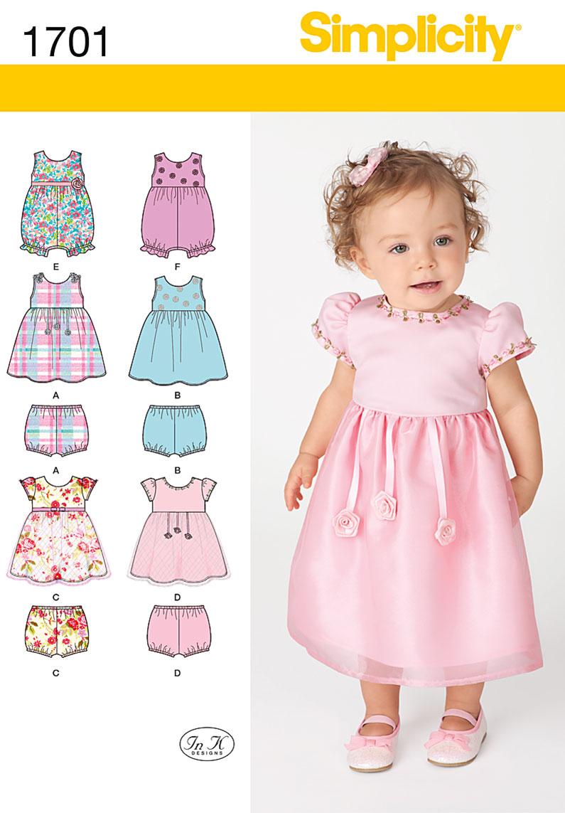 Simplicity Karen Z Babies Sewing Pattern 1701 Dress & Separates ...