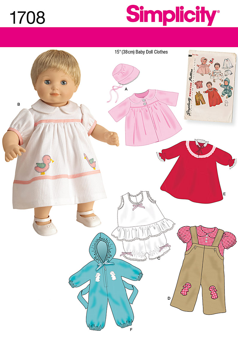 Simplicity 1950s Vintage Toys Sewing Pattern 1708 15\