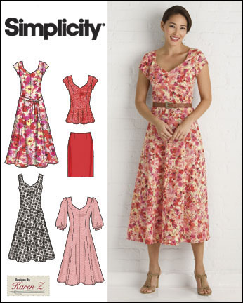 Simplicity Karen Z MissesPlus Size Sewing Pattern 40 Dresses 40 Extraordinary Simplicity Patterns