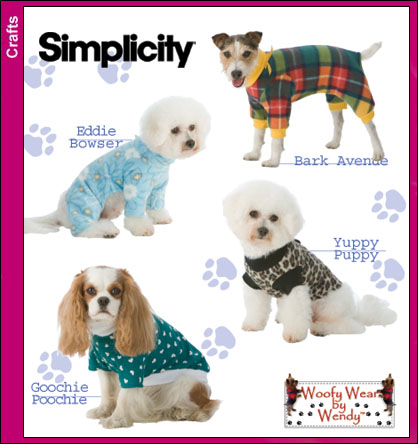Simplicity Woofy Wear by Wendy | Crafts Sewing Pattern 3939 Dog ...