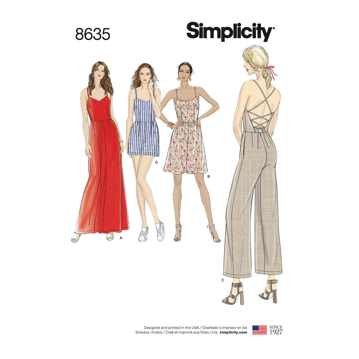 Womens Dress, Jumpsuit and Playsuit | Simplicity Sewing Pattern 8635 ...