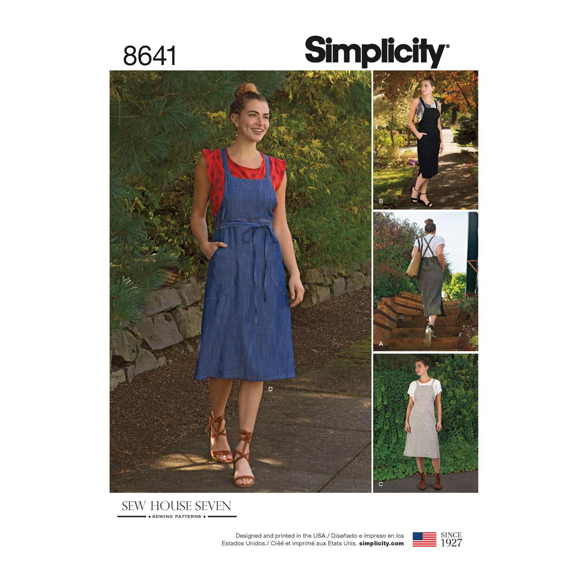 Sew House Seven Womens Pinafore Dress | Simplicity Sewing ...