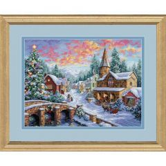 Holiday Village Christmas Cross Stitch Kit