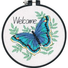 Welcome Butterfly Beginners Cross Stitch Kit