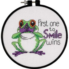 First One To Smile Beginners Cross Stitch Kit